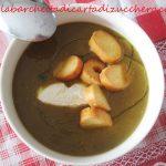 Crema di zucca e lenticchie al curry, con quenelle di chevre fresco