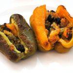 Peperoni ripieni al pecorino dolce, olive taggiasche e mollica