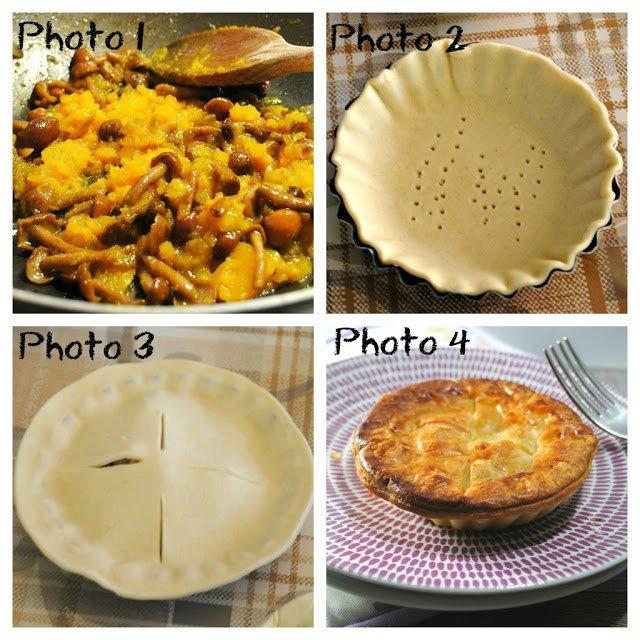 Pie di zucca taleggio e funghi