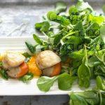 Crema di carote alle Capesante con insalata di soncino, insolita estate