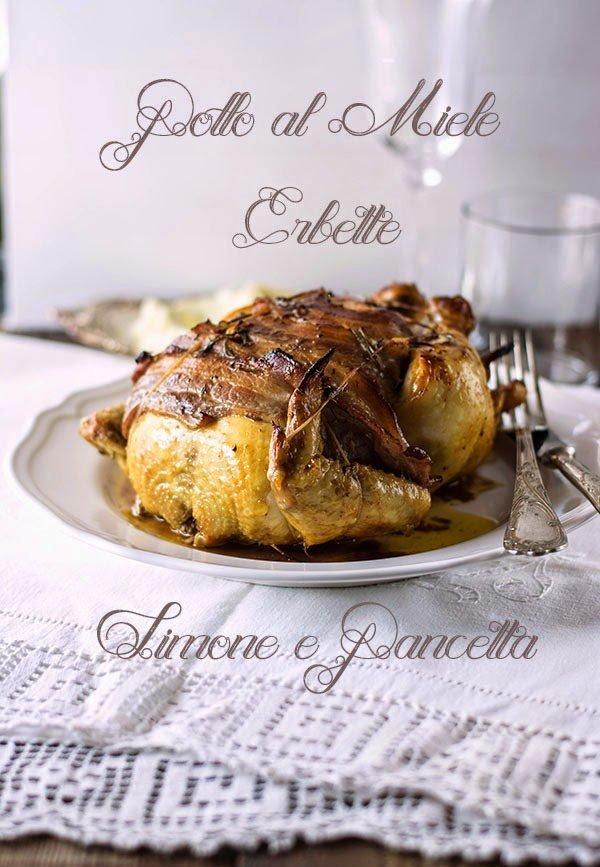 roast chicken with herbs, lemon and honey