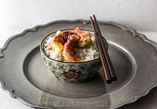 riso zenzero gamberi glassati 5