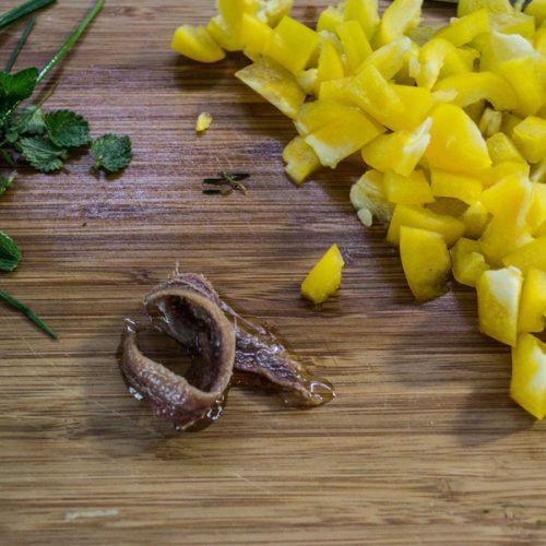 agio olio acciughe peperoni