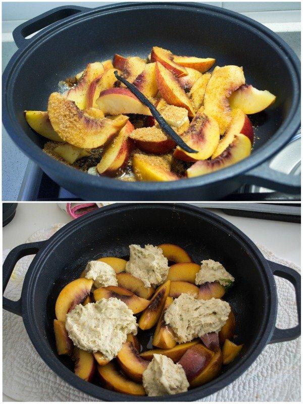 cobbler pesca pistacchi recipe food blog passo passo