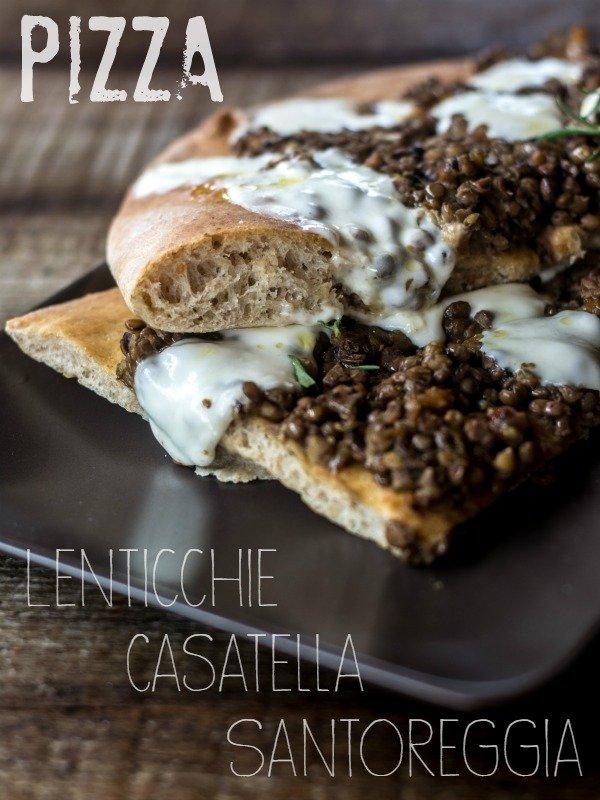 pizza santoreggia casatella lenticchie food blog recipe 02