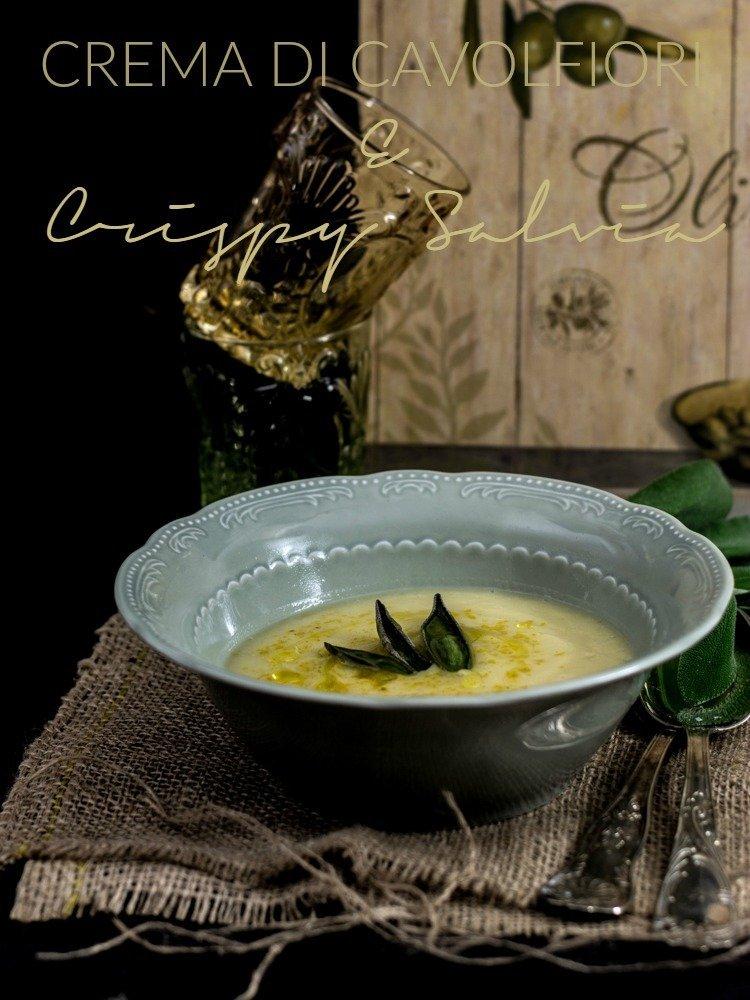 cauliflower cream and crispy sage