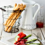 Carpaccio fragole e asparagi