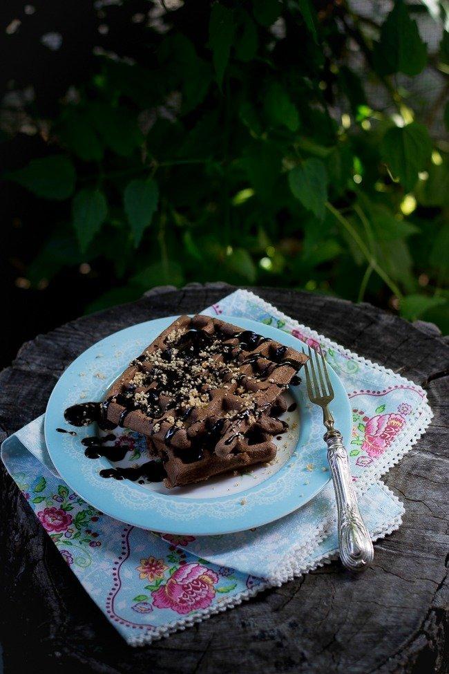 Waffle cacao e nocciole