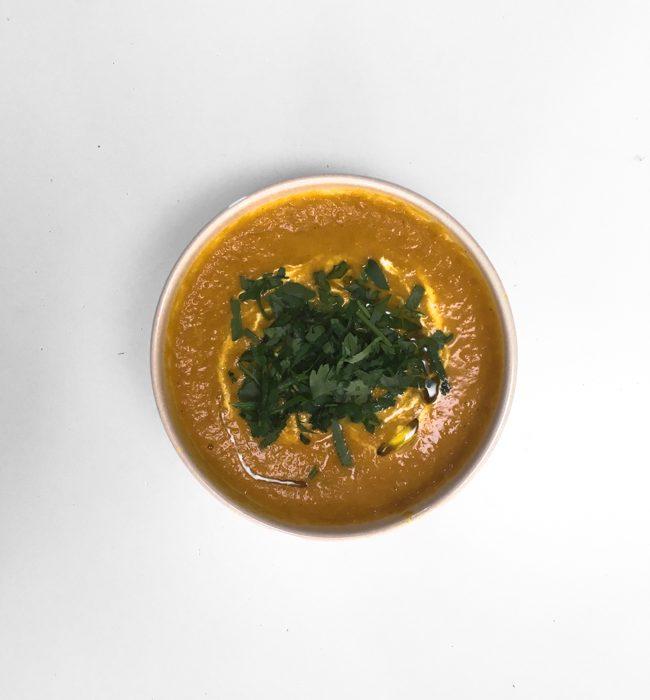 crema di carote filante