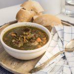 zuppa di carote e lenticchie con polpette