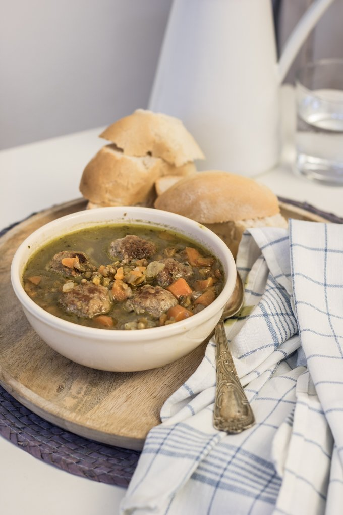 zuppa lenticchie e polpette-5