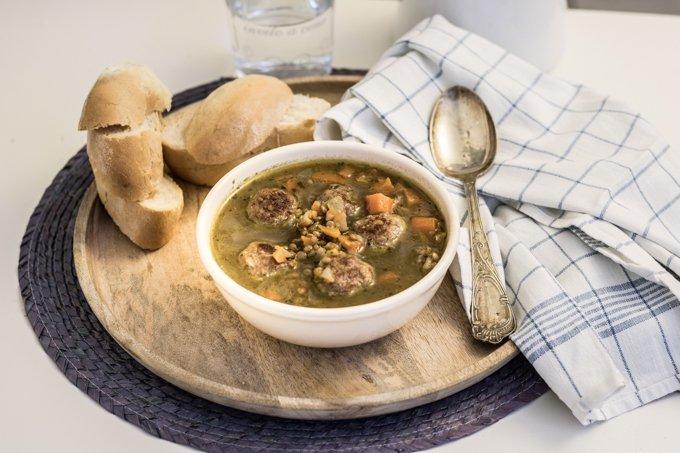 zuppa lenticchie e polpette-8