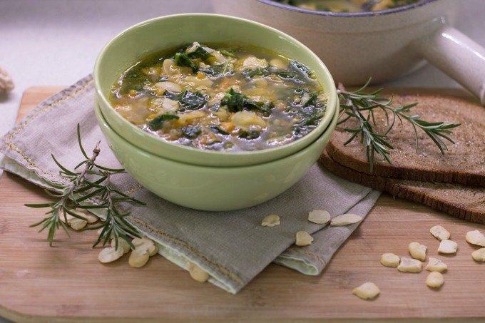 zuppa spinaci e fave-6