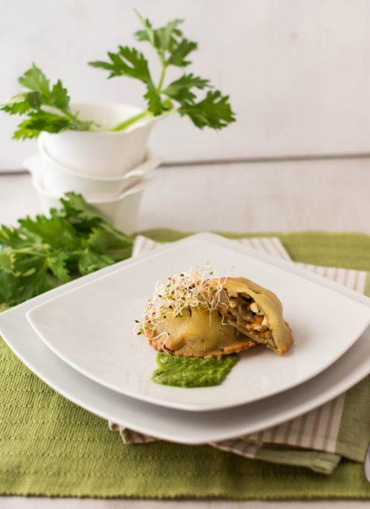 Hand Pie con tofu e funghi - vegan e gluten free
